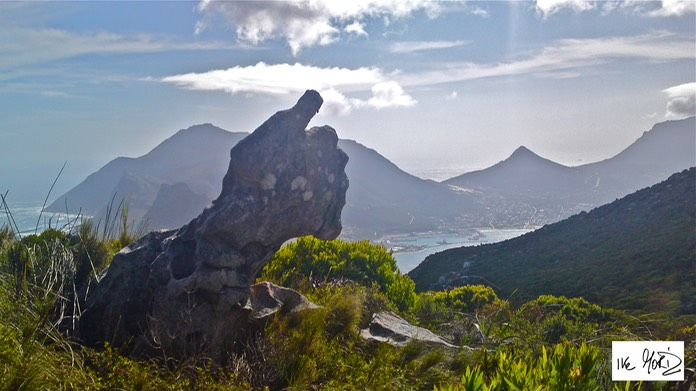 IKE MORIZ ART Ike's thumb rock formation Hout Bay Chapman's Peak photograph by Eike Moriz