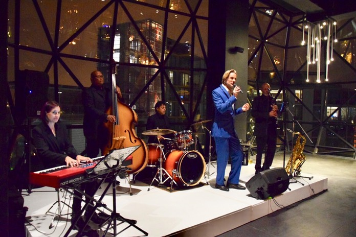TOP WEDDING SINGER swing band Ike Moriz - wedding entertainment jazz quintet at Zeitz Mocaa in Cape Town in March 2018