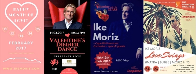 ike moriz valentine under the stars philharmonic orchestra cape town valentines day kelvin grove playhouse theatre 2017 february love swings jazz swing pop blues