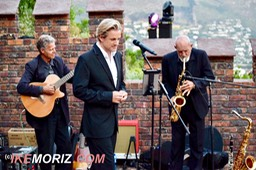 Ike Moriz swing quartet at Lichtenstein castle wedding entertainment crooner jazz pop blues